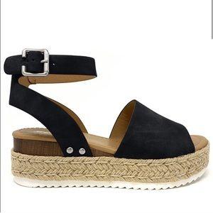 SIZE 10 Women's Open Toe Espadrille Sandal
